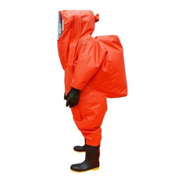 海安特 国标3级防化服,RHF-I-H-A-44,全封闭氯丁胶重型防化服 橙色