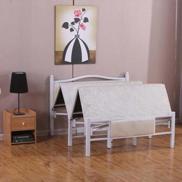 折疊床午休簡易行軍床,白色 1.5米寬 1.95米長(免安裝)