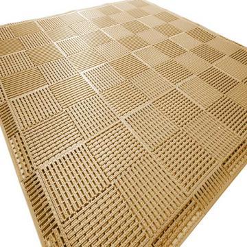 """麗施美""""康安""""模塊疏水防滑墊,0.30*0.30m,棕色 單位:塊"""