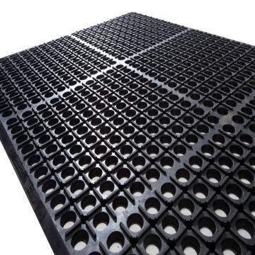"""麗施美 """"特豪""""孔式橡膠防滑墊,0.6*0.9m 黑色,單位:塊"""