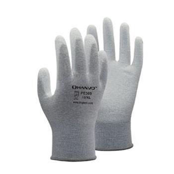 恒輝 防靜電手套,PE309,13針碳纖維掌浸