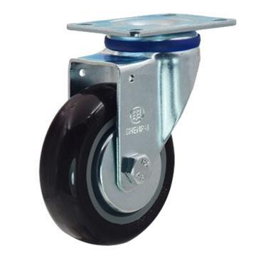 申牌 5寸尼龙中型脚轮,平底万向 载重(kg):145 轮宽(mm):32 全高(mm):160,20A28-1021