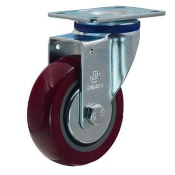 5寸聚氨酯中型脚轮,平底万向,载重(kg):145,轮宽(mm):32,全高(mm):160