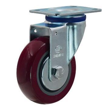 申牌 4寸聚氨酯中型脚轮,平底万向 载重(kg):135 轮宽(mm):32 全高(mm):135,20A19-1016