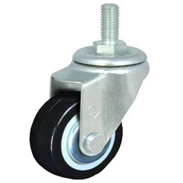 申牌 2.5寸聚氨酯轻型脚轮,丝杆活动M12 载重(kg):40 轮宽(mm):25 全高(mm):90,15A09-1011