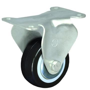 申牌 2.5寸聚氨酯轻型脚轮,平底固定 载重(kg):40 轮宽(mm):25 全高(mm):85,15A08-1011