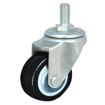 申牌 2寸聚氨酯轻型脚轮,丝杆活动M12 载重(kg):35 轮宽(mm):25 全高(mm):77,15A04-1010