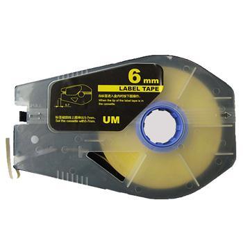 佳能 贴纸, 黄色6mm长30m,适用佳能线号机 单位:卷