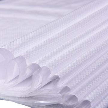 西域推荐 白色覆膜防水塑料编织袋,标准款,尺寸(cm):30*48,100个/包