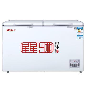 星星 370L商用家用冷藏冷冻双温顶开门冷柜,BCD-370E