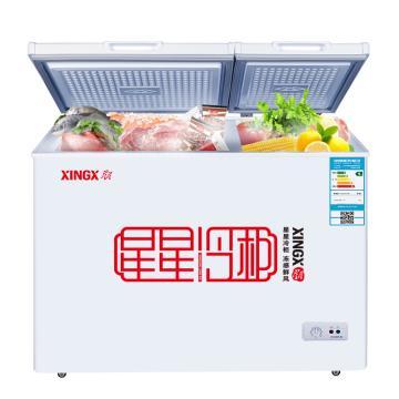 星星 208L商用家用双温双箱卧式顶开门冷柜,BCD-208JDE,大冷冻小冷藏