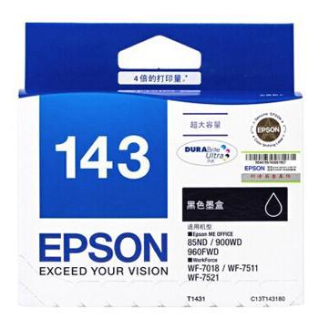 爱普生(EPSON)墨盒,超大容量黑色T1431 C13T143180(适用ME900WD、960FWD、945页)