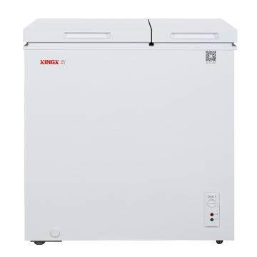 星星 167L欧式直角双温双箱冷柜,BCD-167JNE,微霜系统,左冷冻右冷藏