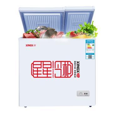 星星 158L双温双箱卧式顶开门冷柜,BCD-158JDE,大冷冻小冷藏