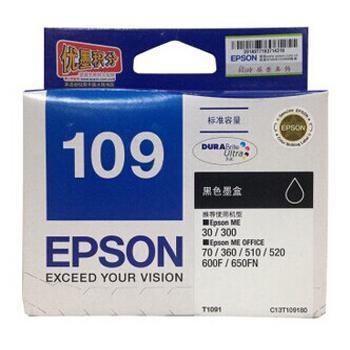 愛普生 墨盒,黑色T1091C13T109180(適用ME30/ME70/ME80W /ME1100/ME300/ME360) 單位:個