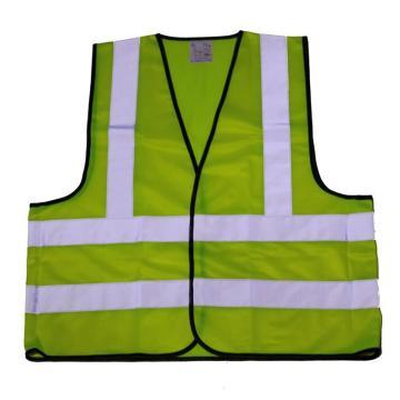 反光背心,柠檬黄,前后皆有两竖条和两横条反光条(左前胸和后背印logo+中铁成投,正楷字体,字体颜色与logo一致)
