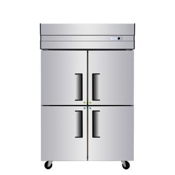 星星 840L商用四门厨房全冷冻立式对开门不锈钢冷冻冰箱,BD-840E