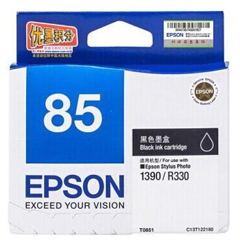 爱普生墨盒,黑色T0851C13T122180(适用SP1390、471页)