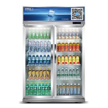 星星 500L商用两门冷藏展示柜,LSC-500K