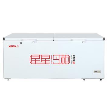 星星 716L商用单温单箱冷藏冷冻转换卧式双门顶开门,BD/BC-716E