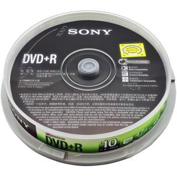 索尼 光盤,DVD+R 4.7G/16X 10片裝 空白刻錄盤 單位:桶(售完即止)