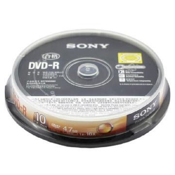 索尼DVD-R 4.7G/16X 10片装 空白刻录盘 单位:桶