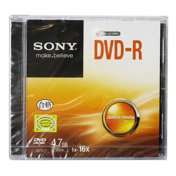索尼DVD-R 4.7G/16X 单片装 空白刻录盘 单位:桶