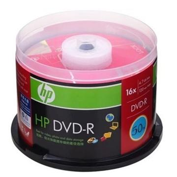 惠普 光盤,DVD-R 4.7G/16X 50片裝 空白刻錄盤 單位:桶