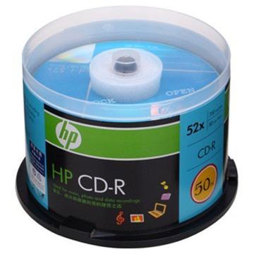 惠普 光盘,CD-R 700MB/52X 50片筒装 空白刻录盘 单位:桶
