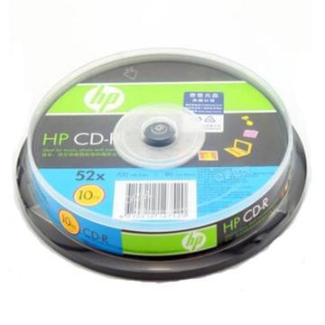 惠普 光盤,CD-R 700MB/52X 10片筒裝 空白刻錄盤 單位:桶