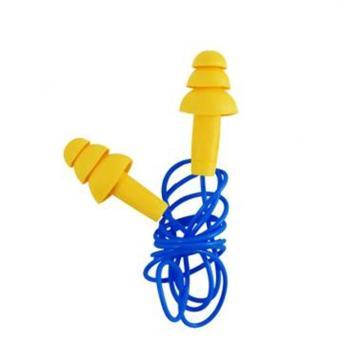 3M 可重復使用耳塞,340-4004,Ultrafit 圣誕樹型硅膠材質 帶線,100副/盒