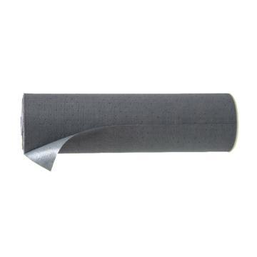 安赛瑞 吸油防滑地垫,灰色,聚丙烯基材,尼龙纤维加固,带背胶,宽76cm×长20m×厚2mm,39655