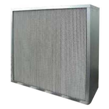 MayAir 耐高温高效有隔板过滤器,610*610*292mm,过滤效率H13,耐高温350℃,铝隔板,双法兰,大风量