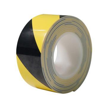 安赛瑞 防撞缓冲警示胶带,泡棉材质,自带背胶,厚3mm,60mm×3m,黄/黑,12066