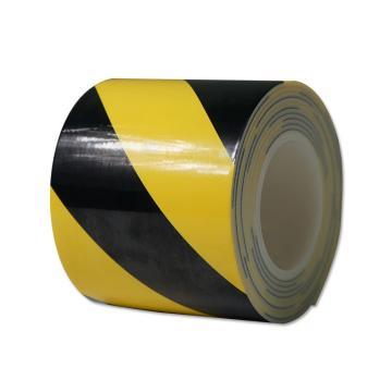 安赛瑞 防撞缓冲警示胶带,泡棉材质,自带背胶,厚3mm,120mm×3m,黄/黑,12067