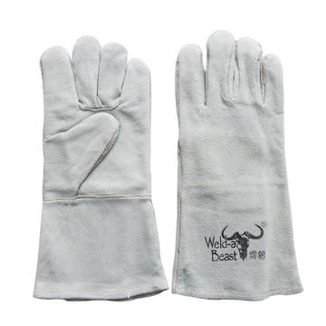 焊兽 皮制劳保电焊手套,4150-16