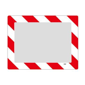 库位定位地贴(A3)-耐磨PVC材质,自带背胶,红白条纹,398×522mm,可覆盖A3纸张