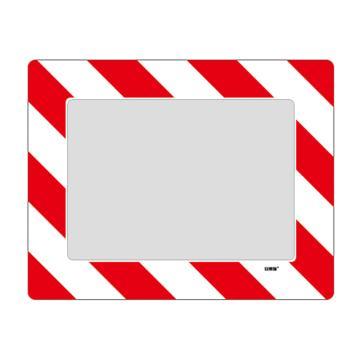 安赛瑞 库位定位地贴(A4),耐磨PVC材质,自带背胶,红白条纹,398×312mm,可覆盖A4纸张,12131
