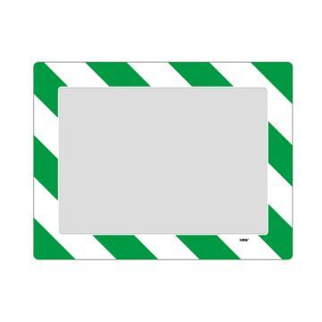 安赛瑞 库位定位地贴(A3),耐磨PVC材质,自带背胶,绿白条纹,398×522mm,可覆盖A3纸张,12133