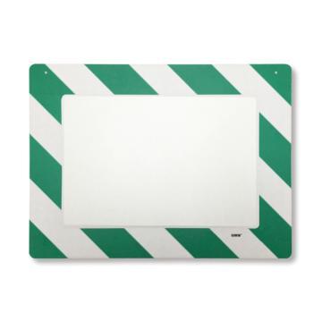 悬挂式区域标识框(A4-绿白)-透明PC材料,可插入A4纸张,绿白边框,398×312mm