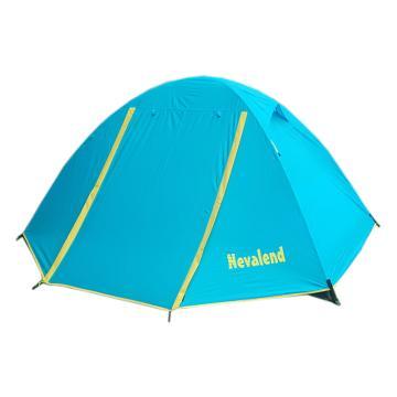 纳瓦兰德双人双层玻璃纤维杆玫瑰情缘三代帐篷 尺寸:210*140*110 湖水蓝 单位:个