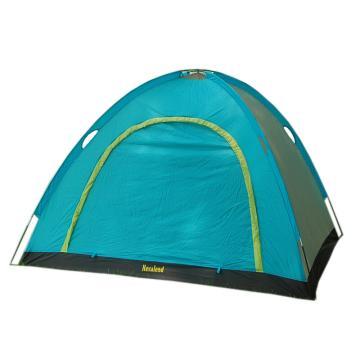 納瓦蘭德 三人雙層玻璃纖維桿風景無限二代帳篷,尺寸:210*180*140 熒光綠+湖水藍 單位:個