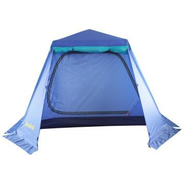 納瓦蘭德 自由飛翔-四人(韓國進口支架)自動帳篷, 尺寸:250*250*165CM 湖水藍 單位:個