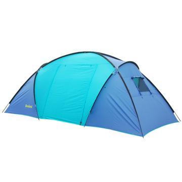 納瓦蘭德 自由之路兩室一廳六人帳篷, 尺寸:490X240X190CM 湖藍色+紫色 橙色+咖啡色 單位:個