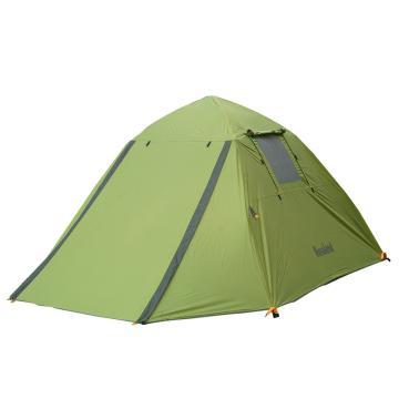 納瓦蘭德 蒼穹之天三人雙層自動鋁合金帳篷, 熒光綠+軍綠色 單位:個