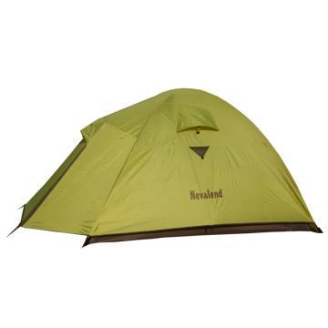 納瓦蘭德 自由牧峰3三人鋁合金帳篷, 尺寸:(60+210+30)X180X120CM 熒光綠+軍旅 單位:個