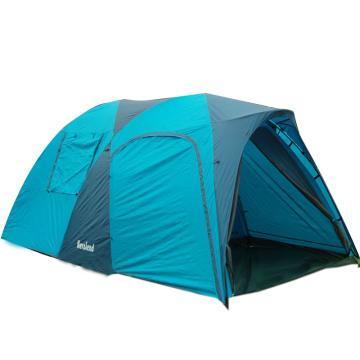 納瓦蘭德 自由之旅【5-6人帳篷】,尺寸:260+160X240XH185CM藍色 單位:個