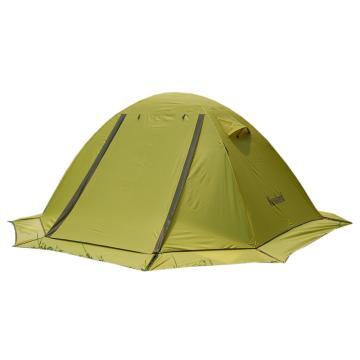 纳瓦兰德斗破苍穹双人双层加雪裙铝合金帐篷 荧光绿+军绿+底布灰色 单位:个