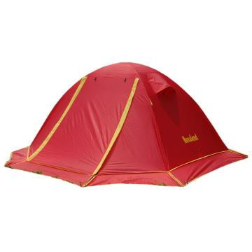 纳瓦兰德斗破苍穹双人双层加雪裙铝合金帐篷 红色+黄色+底布咖啡色 单位:个
