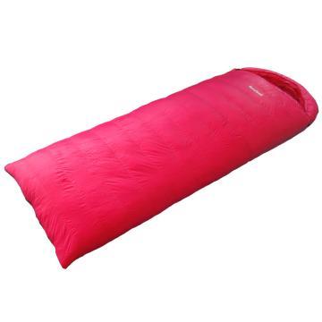 納瓦蘭德 信封羽絨睡袋,1000克加長加寬 零下18度~零度 玫粉色 尺寸:230*90 單位:個